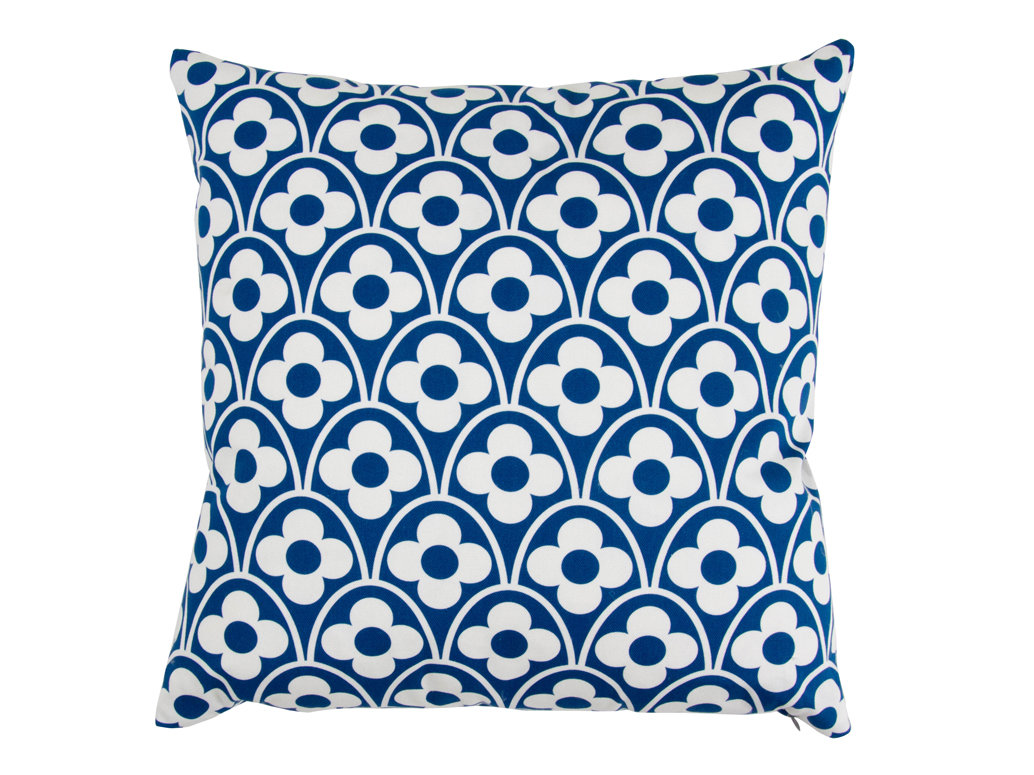 Layla Faye Flower Waves Cushion Navy - Product code: LFC-FWN018