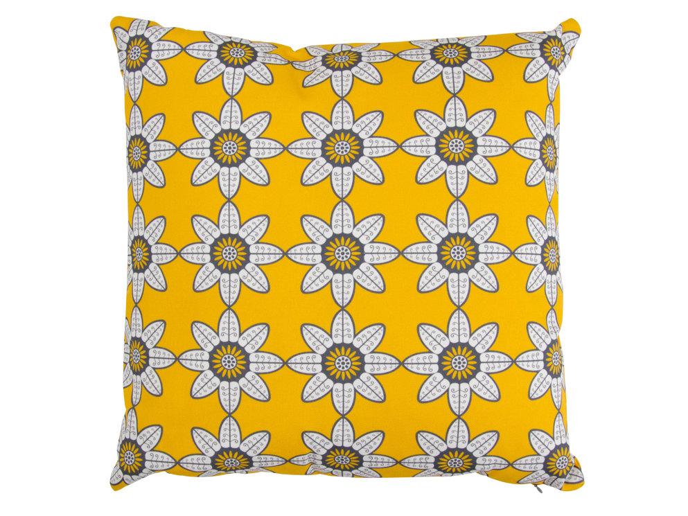 Indian Summer Cushion - Mustard - by Layla Faye