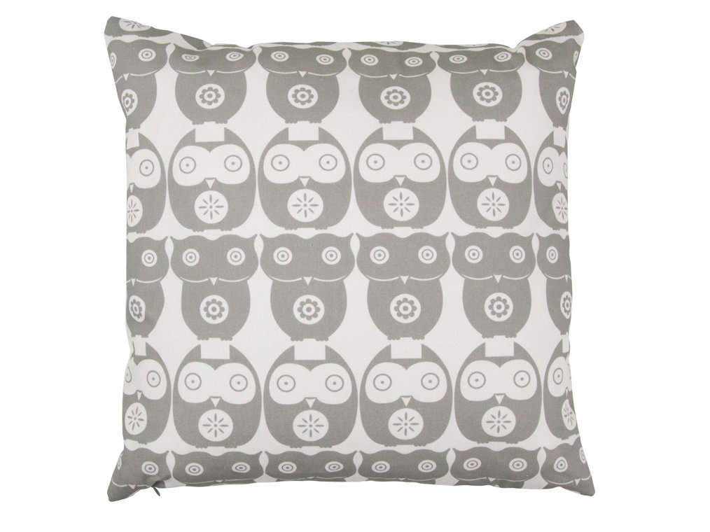 Owl Cushion - Grey Owl - by Layla Faye