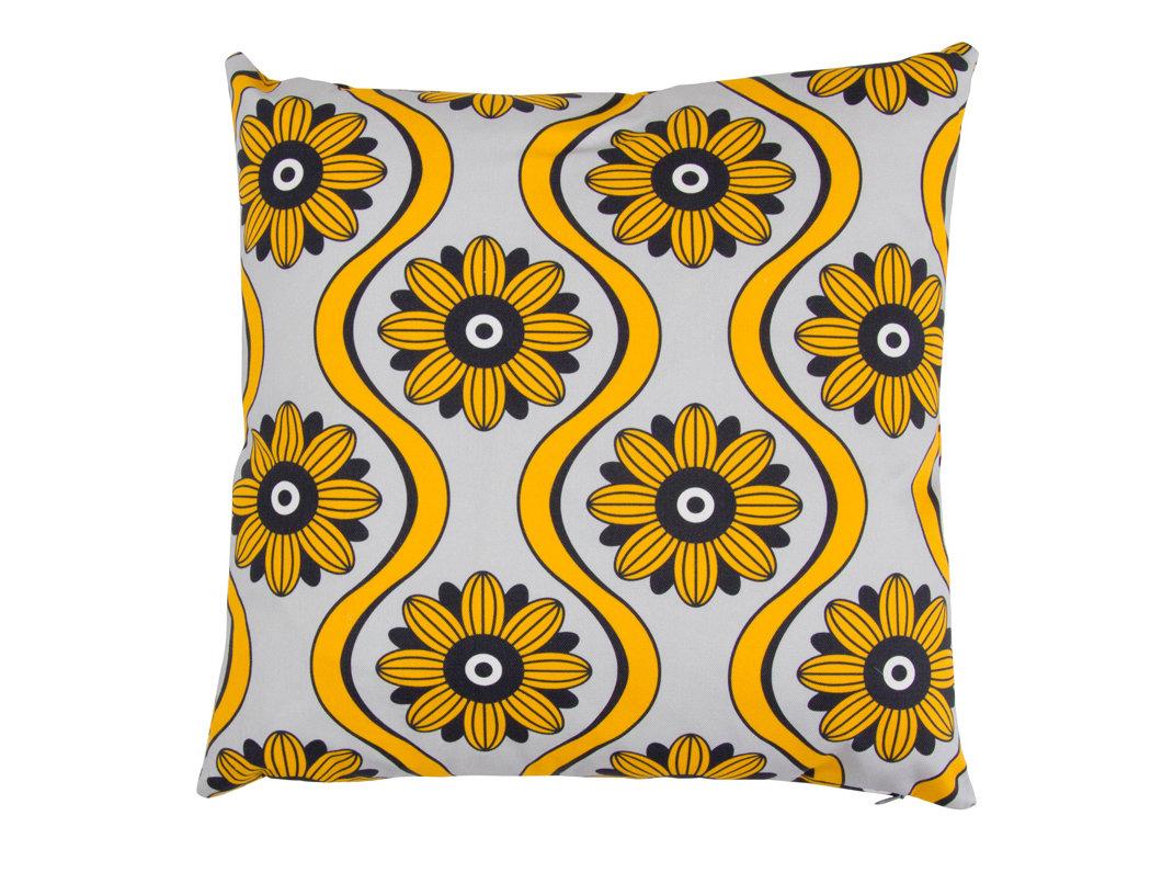 Layla Faye Swirl Cushion Mustard - Product code: LFC-SWM024
