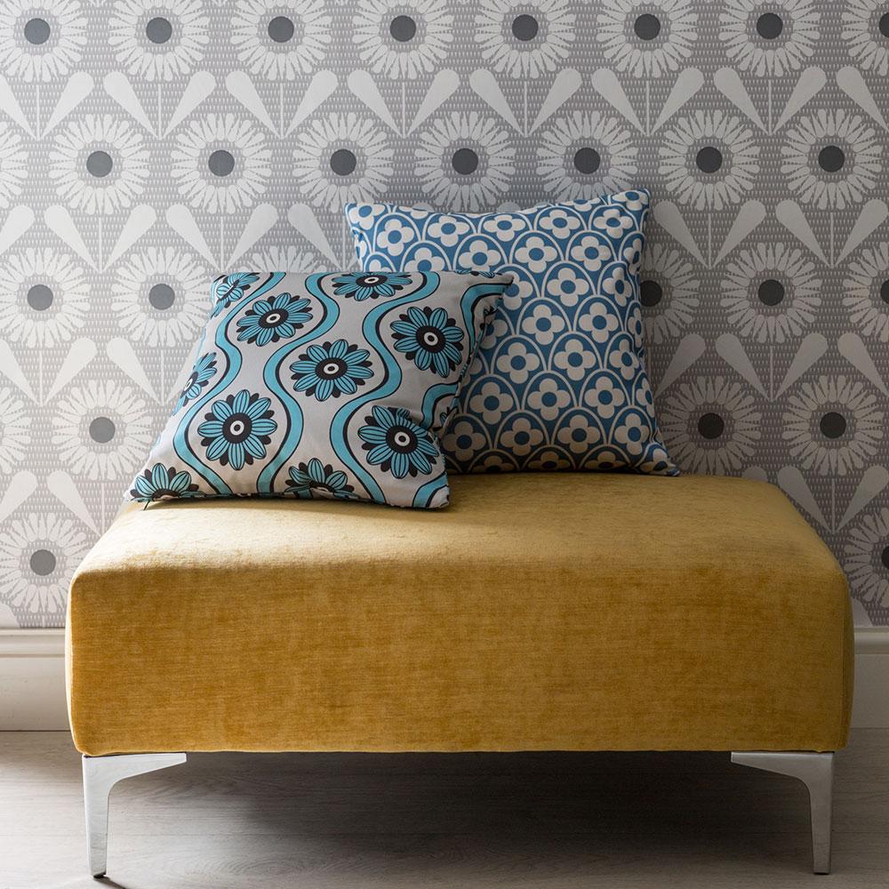 Layla Faye Swirl Cushion Sky - Product code: LFC-SWS025