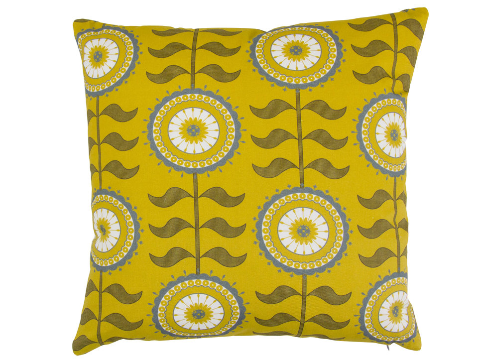Layla Faye Tall Flower Cushion Olive - Product code: LFC-TFO026