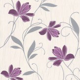 Albany Chicago Floral Purple Wallpaper