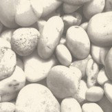 Albany Pebbles Grey / White Wallpaper