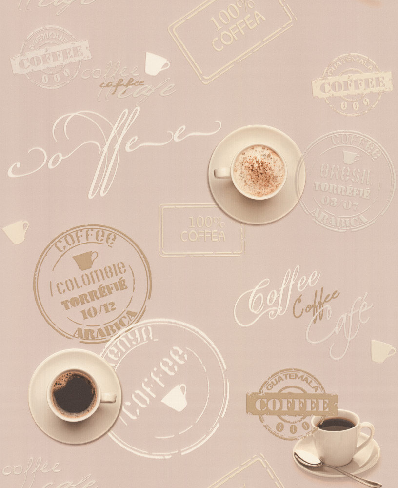 Albany Coffee Time Brown Wallpaper main image