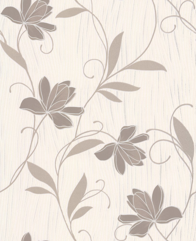 Albany Chicago Floral Taupe Wallpaper main image