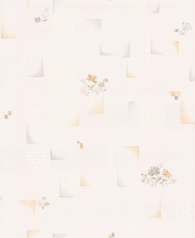 Albany Floral Tile Gold / Grey Wallpaper - Product code: 95412-2