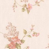 Albany Villa Floral Trail Pink Wallpaper