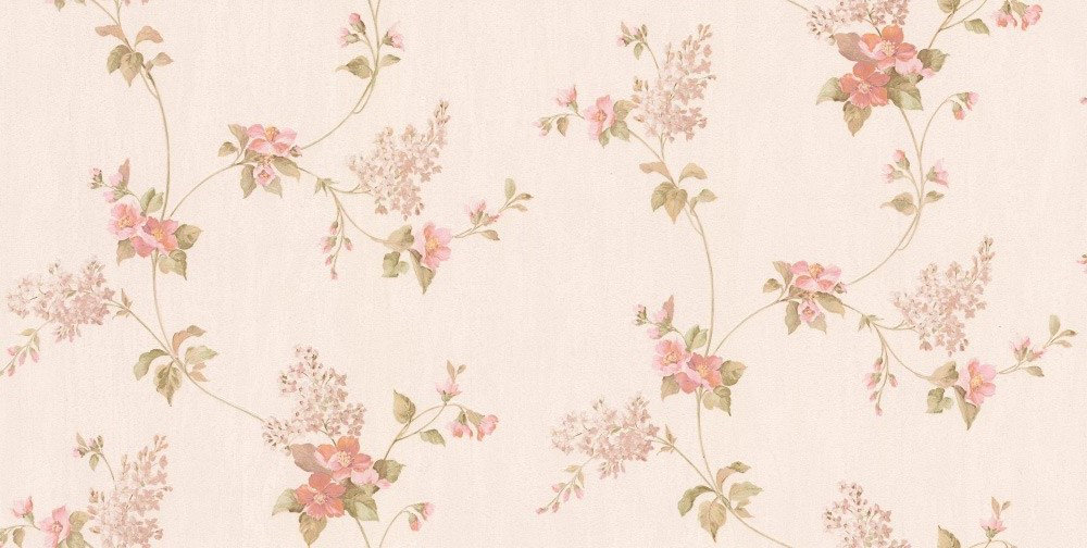 Albany Villa Floral Trail Pink Wallpaper main image