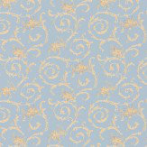Albany Villa Decorative Blue Wallpaper