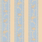 Albany Villa Decorative Stripe Blue Wallpaper