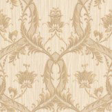 Albany Glitter Trailing Damask Honey Wallpaper