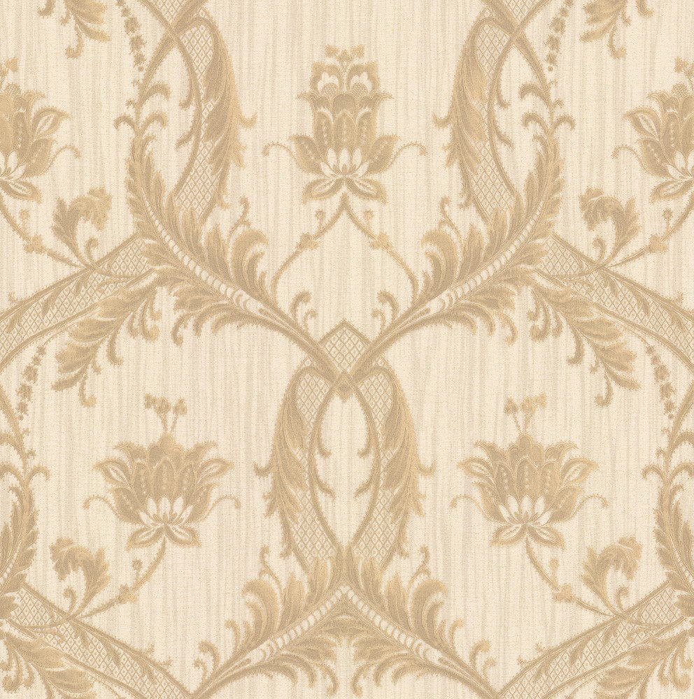 Albany Glitter Trailing Damask Honey Wallpaper main image
