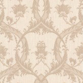 Albany Glitter Trailing Damask Taupe / Cream Wallpaper