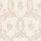 Albany Glitter Trailing Damask Opal Wallpaper