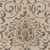 Nina Campbell Belem Chocolate / Gold Wallpaper - Product code: NCW4201/01