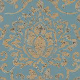 Nina Campbell Belem Topaz / Gold Wallpaper - Product code: NCW4201/05