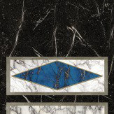 Nina Campbell Kershaw Panel Lapis / Black Mural - Product code: NCW4203/01