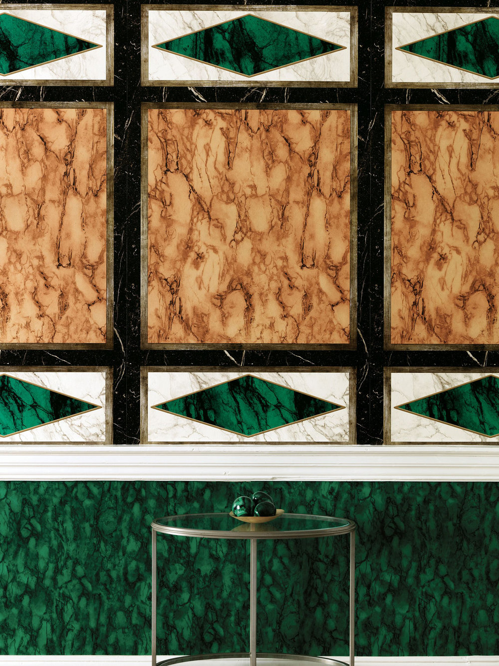 Kershaw Panel By Nina Campbell Malachite Mural