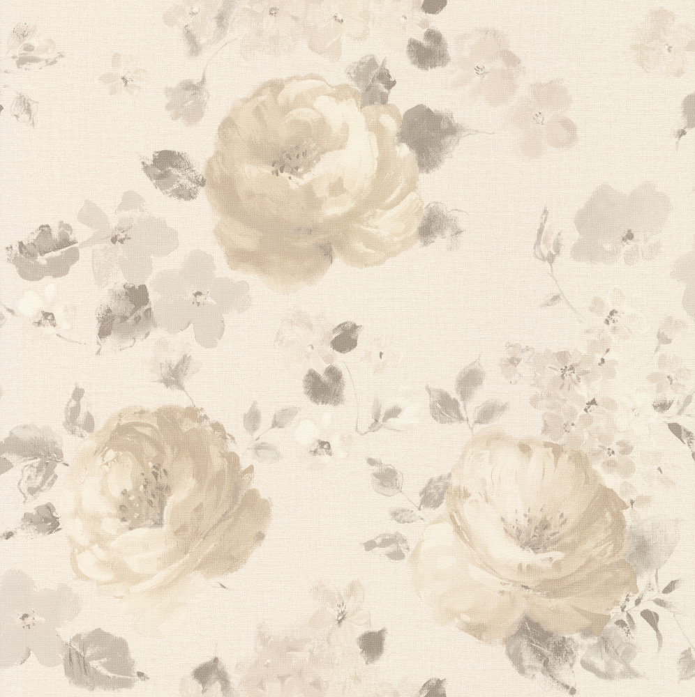 Albany Rose Floral Beige Wallpaper main image