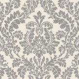 Albany Classic Damask Black Wallpaper