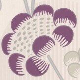 Albany Contemporary Floral Damson Wallpaper