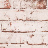 Albany Rustic Brick Red Wallpaper