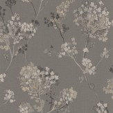 Albany Misty Floral Charcoal Grey Wallpaper