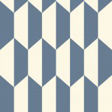 Cole & Son Tile Blue and White Wallpaper