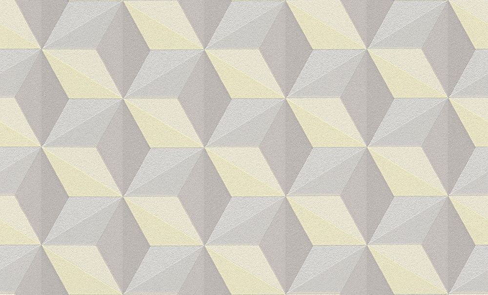 Albany Glitter Geometric Yellow Wallpaper - Product code: 96255-3