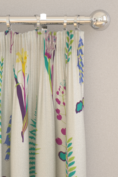 Sanderson Floral Bazaar Fig / Multi Curtains