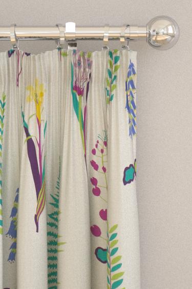 Sanderson Floral Bazaar Fig / Multi Curtains - Product code: 224641