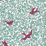 Sanderson Larksong Slate / Berry Fabric - Product code: 234651