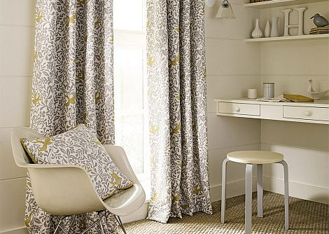 Sanderson Larksong Dove / Honey Fabric - Product code: 234652