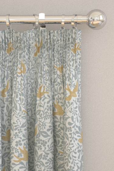 Sanderson Larksong Dove / Honey Curtains