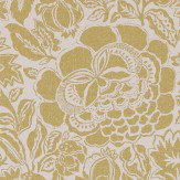 Sanderson Poppy Damask Linden / Chalk Wallpaper