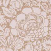 Sanderson Poppy Damask Linen / Natural Wallpaper