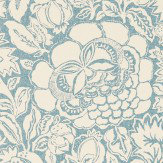 Sanderson Poppy Damask Indigo / Natural Wallpaper