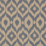 Sanderson Surin Indigo / Canvas Wallpaper