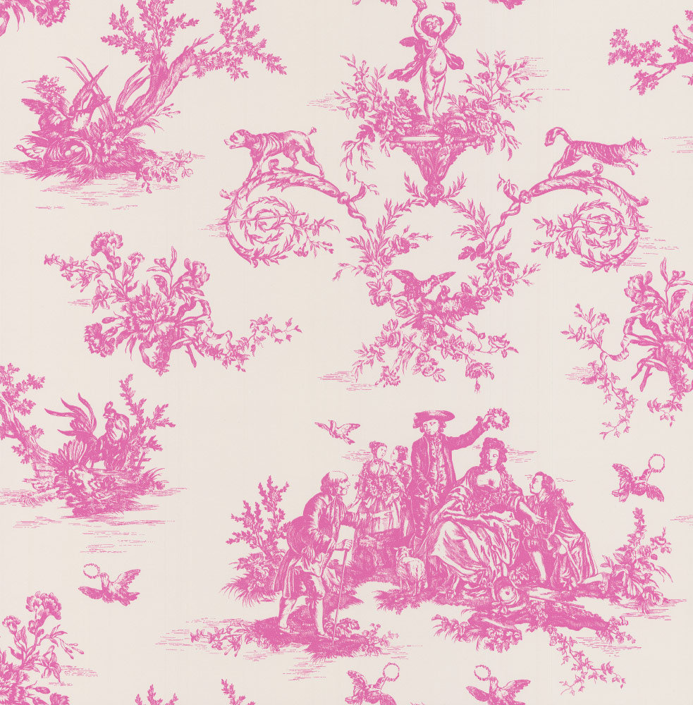 C Brewer & Sons Ltd Toile Moreton Pinkney Wallpaper main image