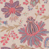 Colefax and Fowler Casimir Red / Blue Wallpaper
