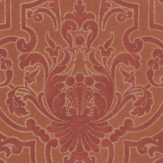 Colefax and Fowler Fretwork Red Wallpaper