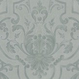 Colefax and Fowler Fretwork Old Blue Wallpaper