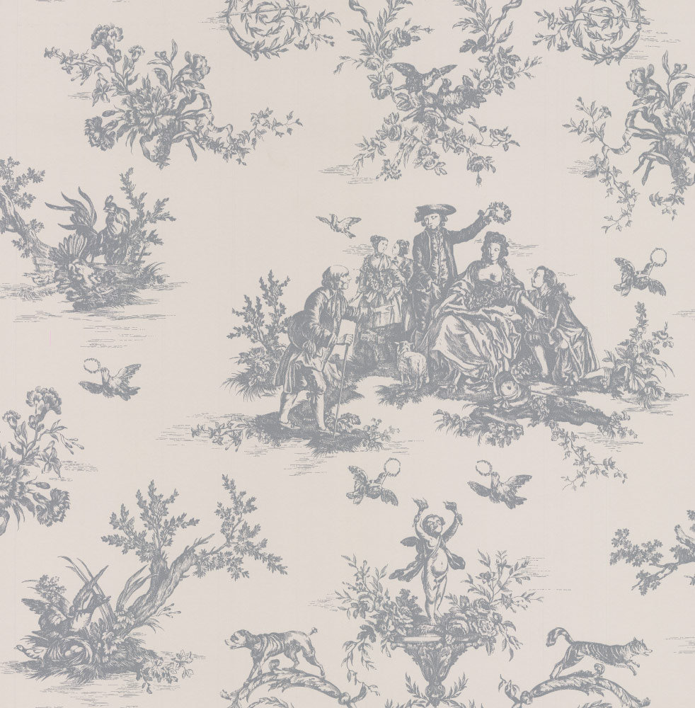 C Brewer & Sons Ltd Toile Embley Wallpaper main image