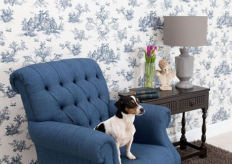 C Brewer & Sons Ltd Toile Highbrook Wallpaper