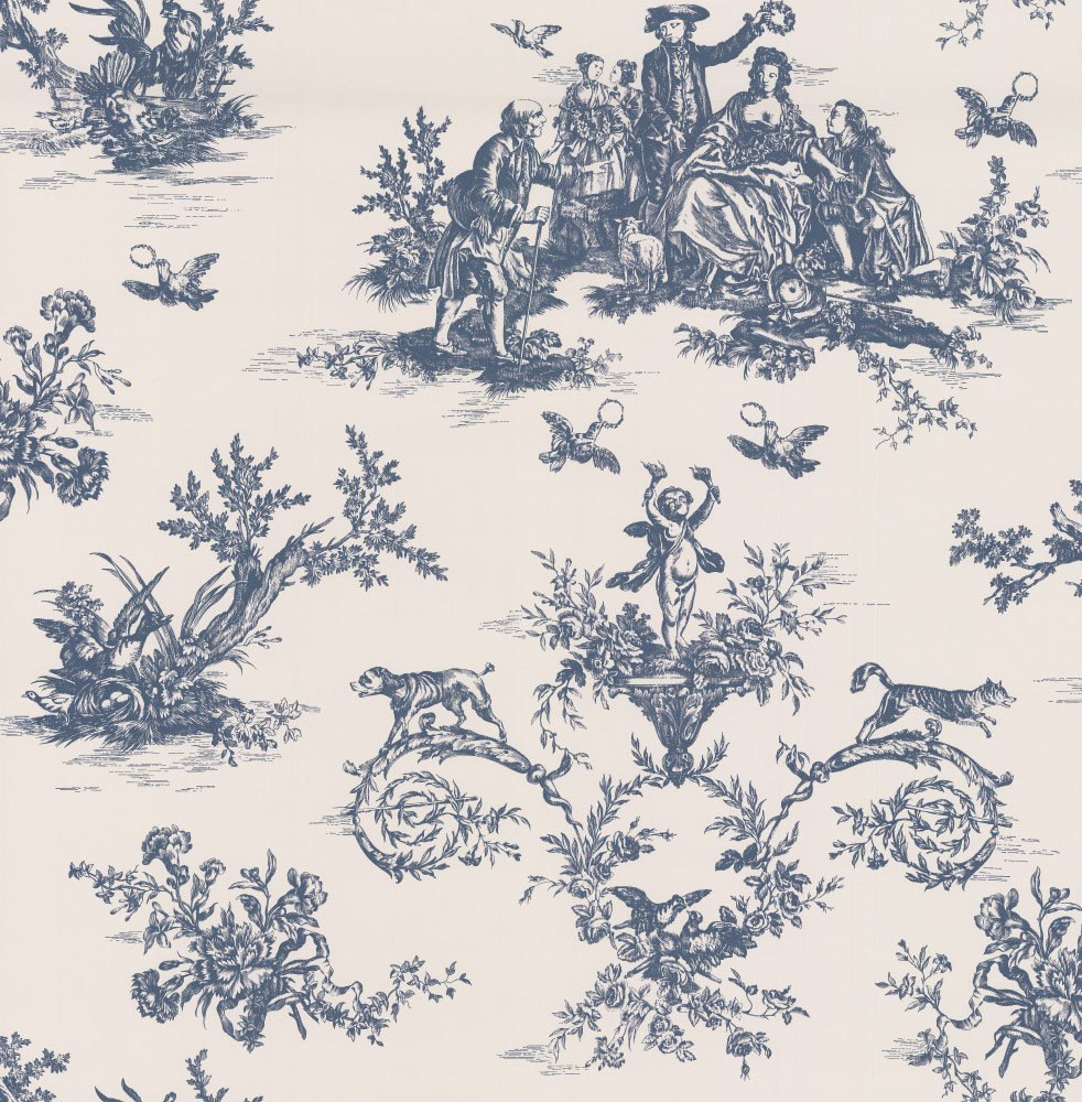 C Brewer & Sons Ltd Toile Highbrook Wallpaper main image