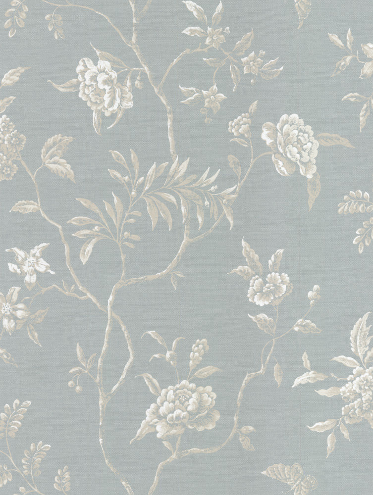 Colefax And Fowler Swedish Tree Old Blue Wallpaper Main Image