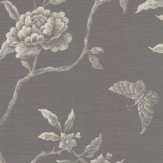 Colefax and Fowler Swedish Tree Charcoal Wallpaper