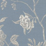 Colefax and Fowler Swedish Tree Navy Wallpaper