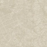 Albany Vintage Map Taupe Wallpaper